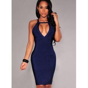 4d8cd2d10a0 Dresses & Skirts - Navy blue midi bandage dress